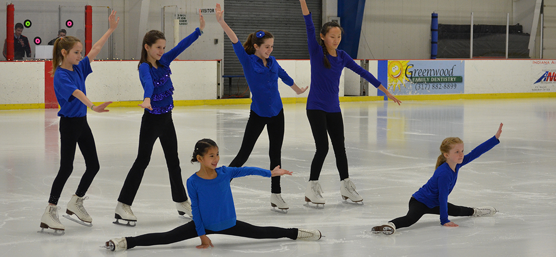 Basic 7 and 8 and Free Skate 1 and 2 skaters perform in the 2015 show.